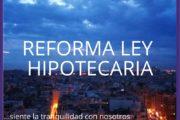 Reforma Ley Hipotecaria