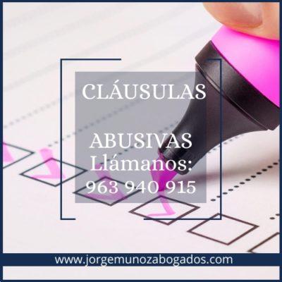 CLÁUSULAS ABUSIVAS VALENCIA (1)