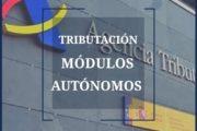 Tributación Módulos Autónomos 2019