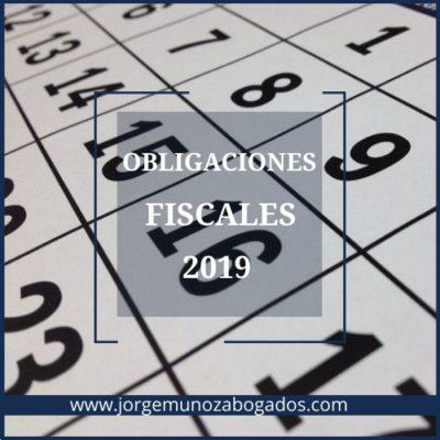 Obligaciones Fiscales 2019 Valencia