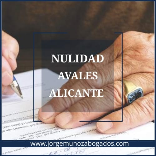 Nulidad Avales Alicante